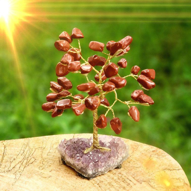 Árvore de Pedras Jaspe Vermelho