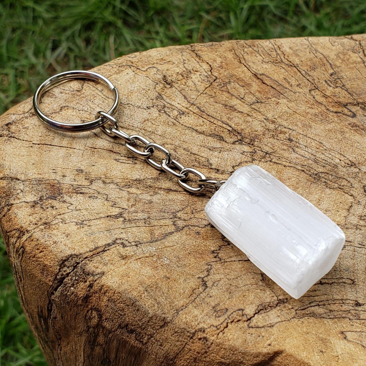 Chaveiro Pedra de Selenita