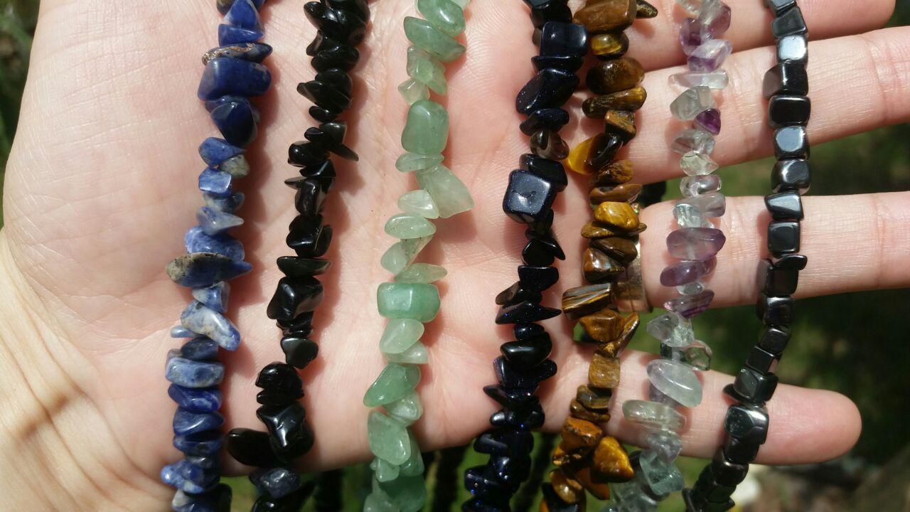 Cristal - Cordão Cascalho Pedra Natural - Escolha o seu!