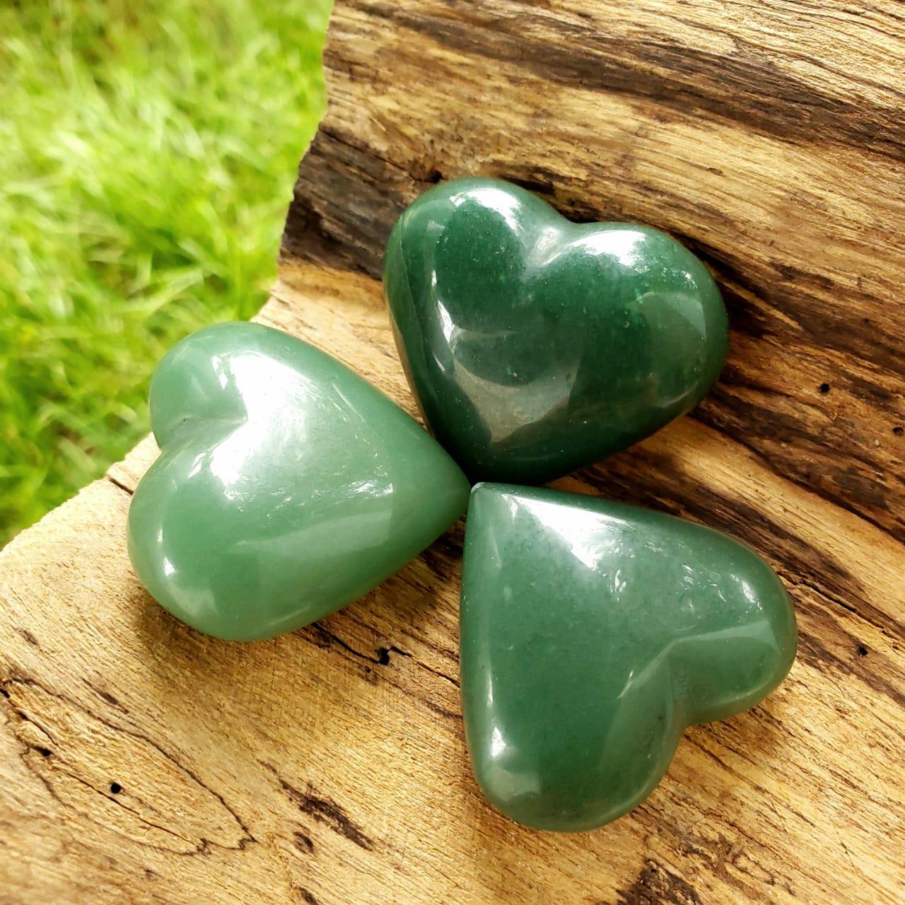 Coração de Quartzo Verde