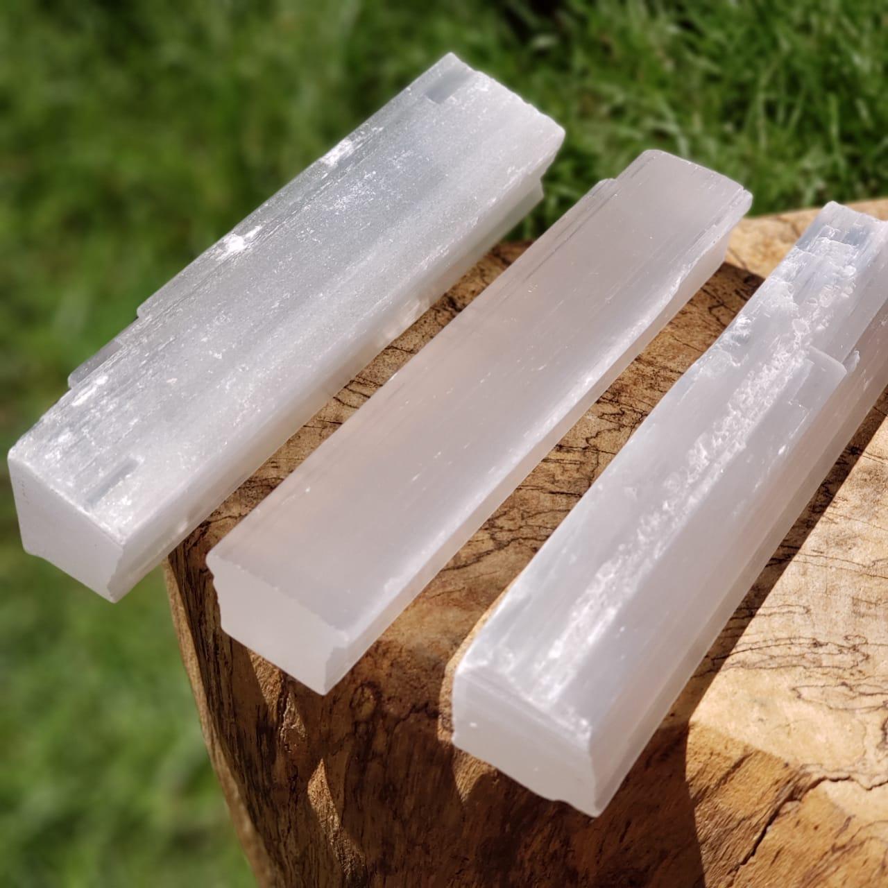 Cristal - Bastão Bruto - Selenita da Paz