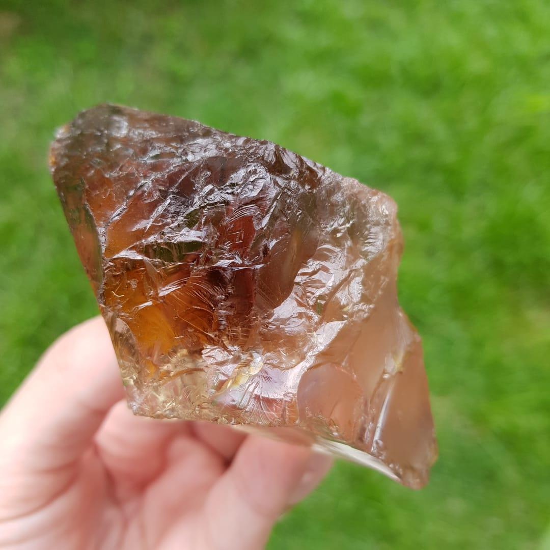 Cristal - Bruto - Quartzo Fumê Grande Energia e Pureza