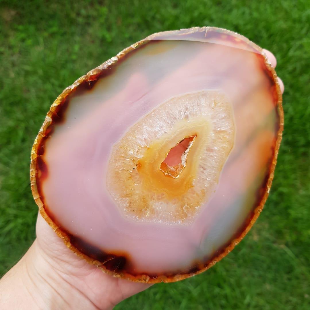 Cristal - Chapa - Placa Ágata Marrom - PEÇA ÚNICA