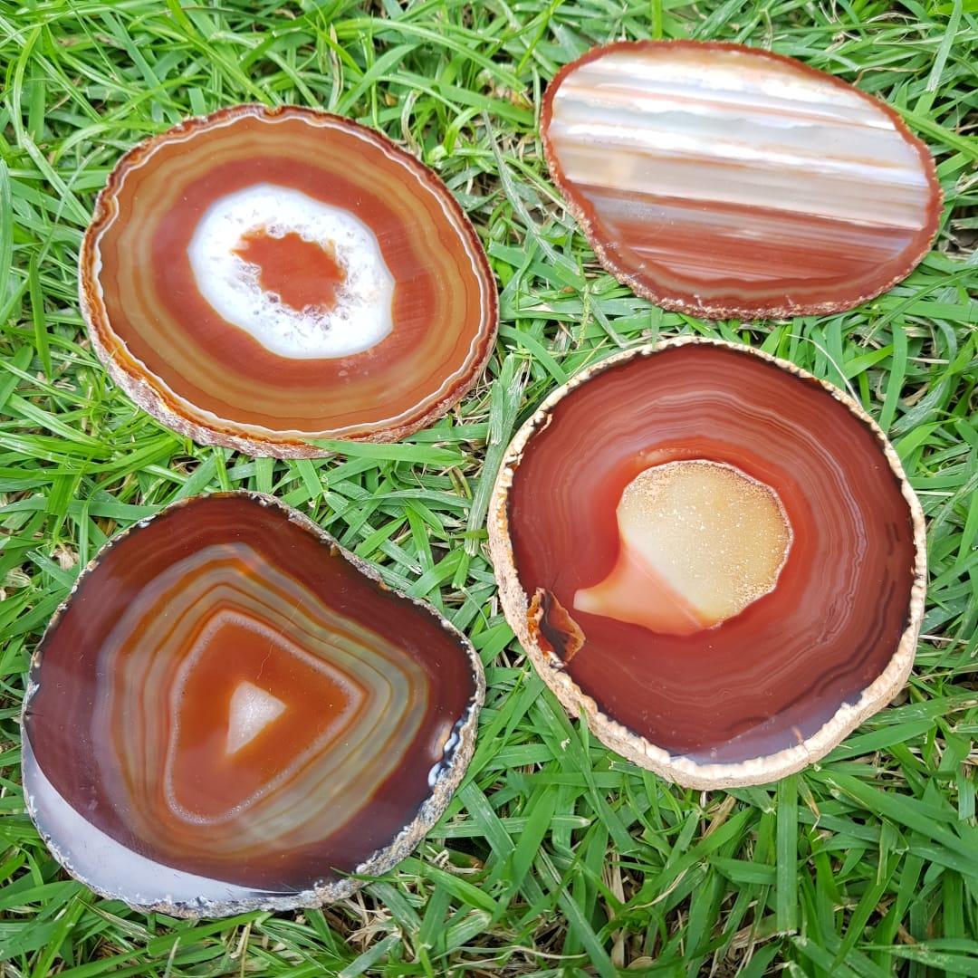 Cristal - Chapa - Placa Ágata Marrom Sortida