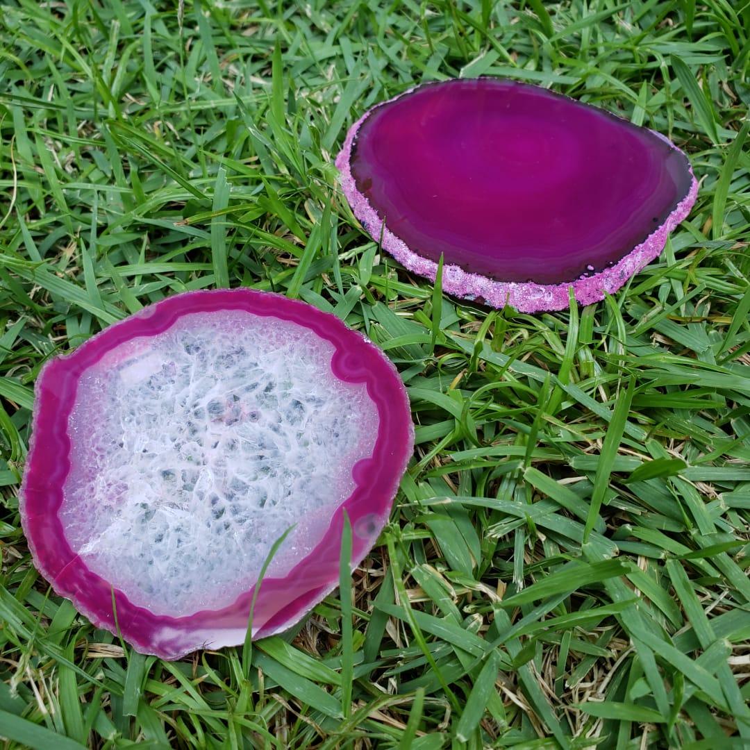 Cristal - Chapa - Placa Ágata Rosa Sortida