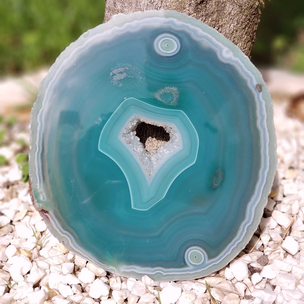 Cristal - Chapa - Placa de Ágata Verde