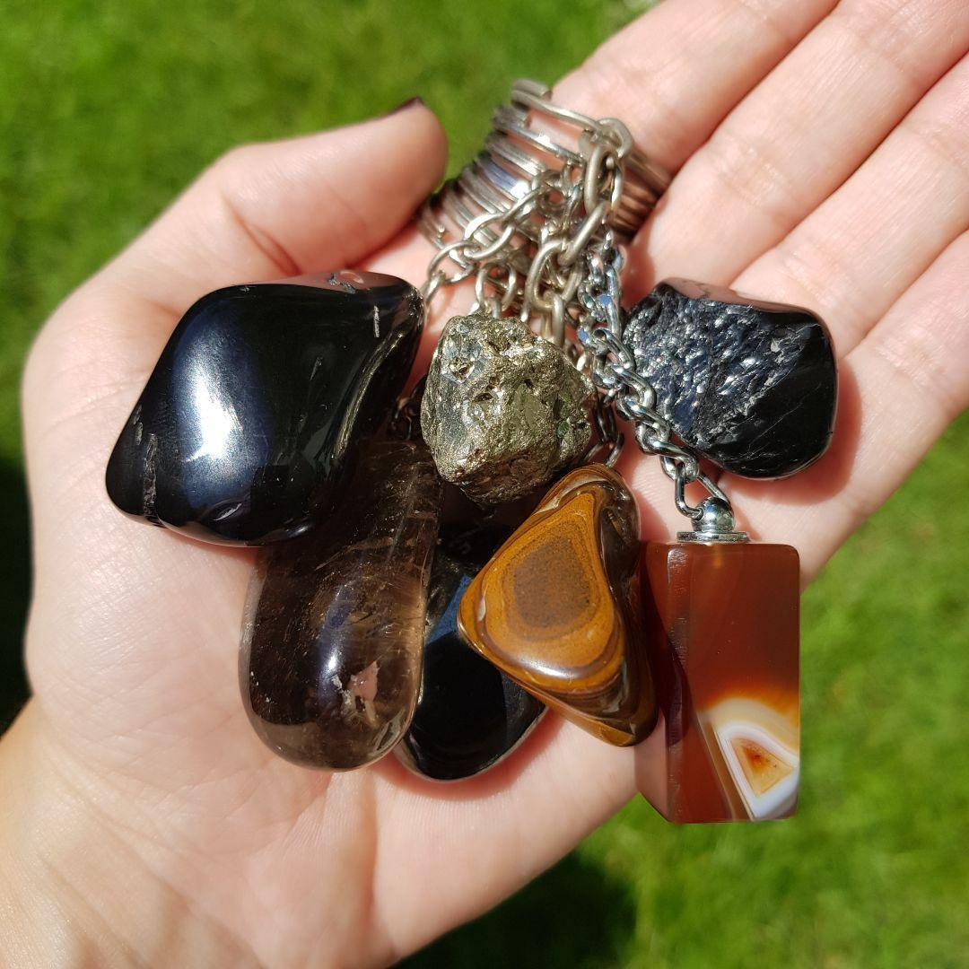 Cristal - Chaveiro Pedra Natural - Escolha o seu!