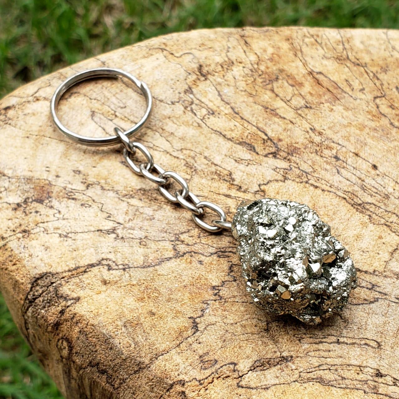 Cristal - Chaveiro - Pedra Pirita