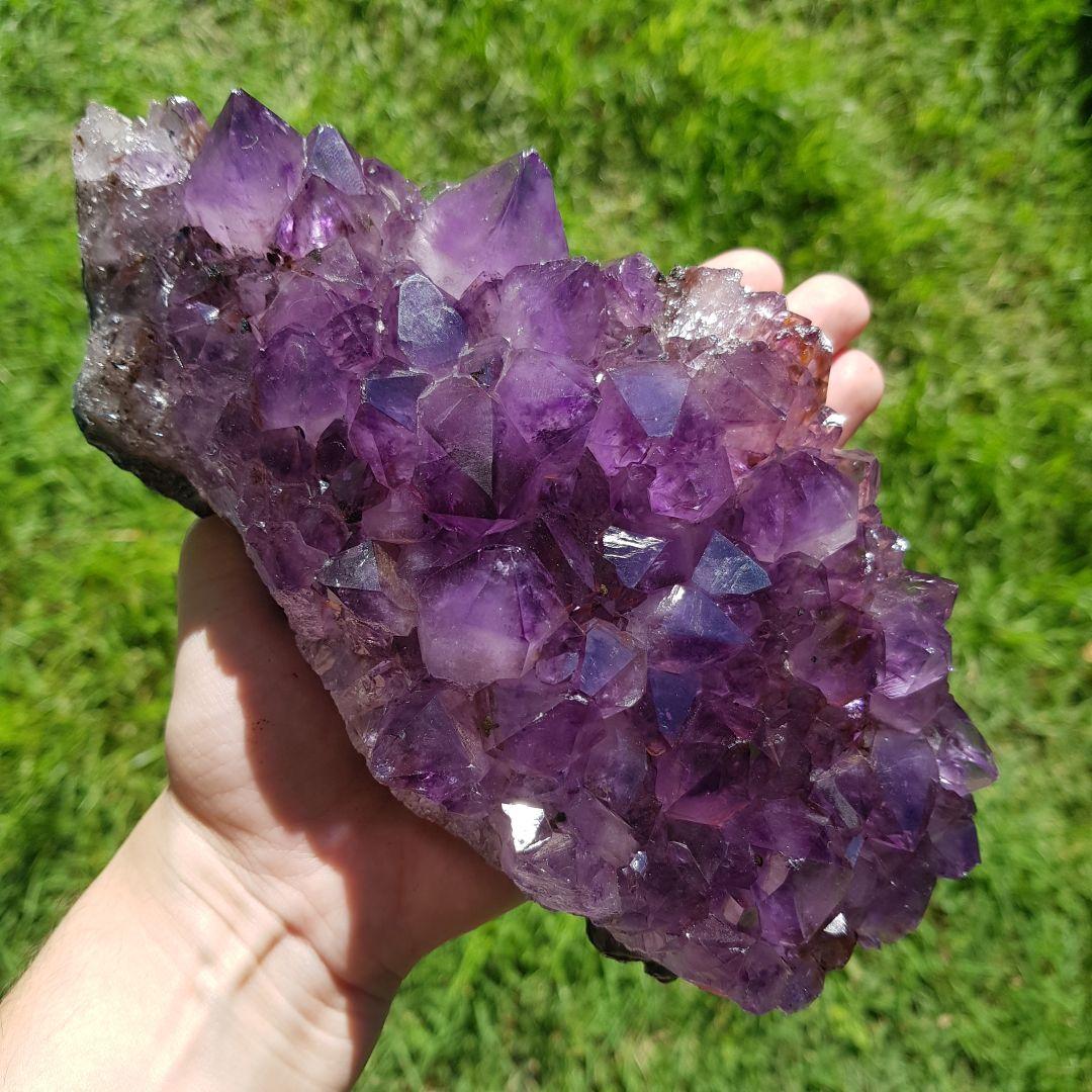 Cristal - Drusa - Ametista - Transforma Energia Negativa em Positiva