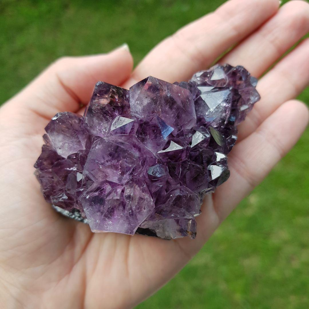 Cristal - Drusa - Ametista Transmutação de Energias