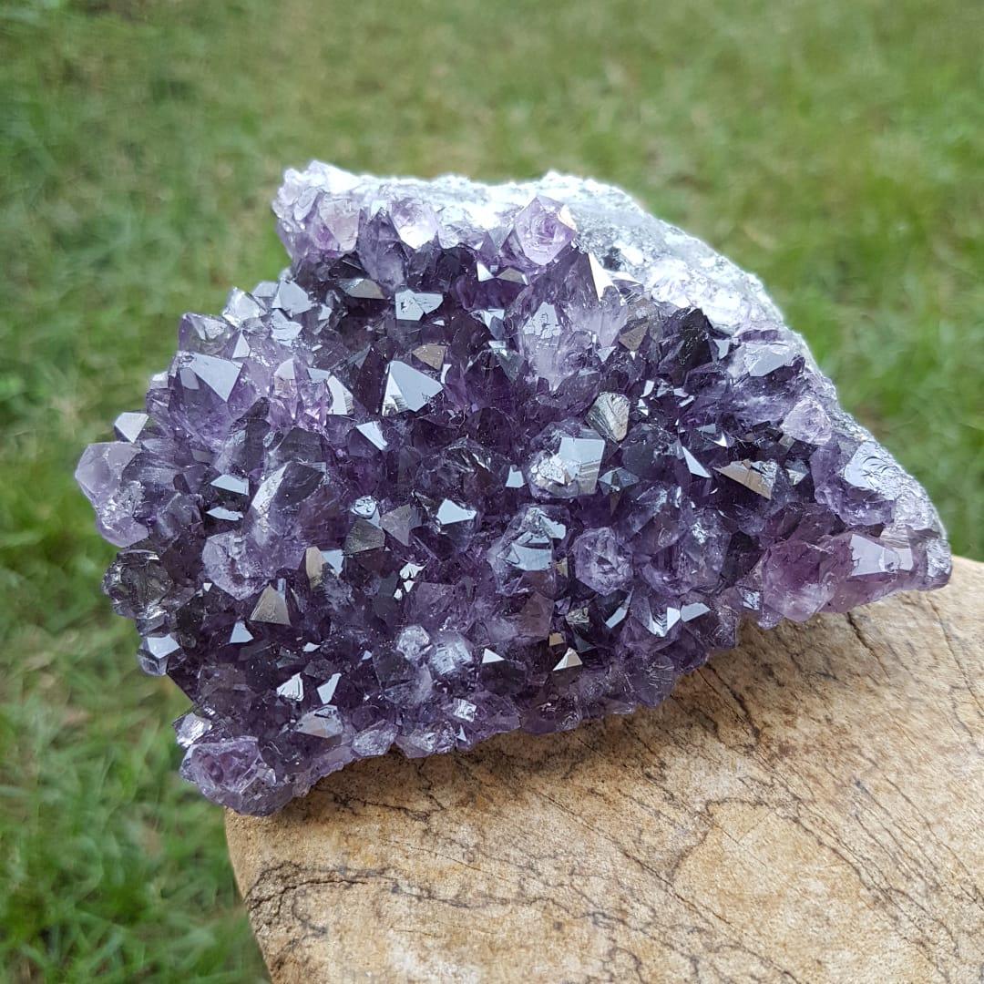 Cristal - Drusa - Ametista  Transmutação Energética