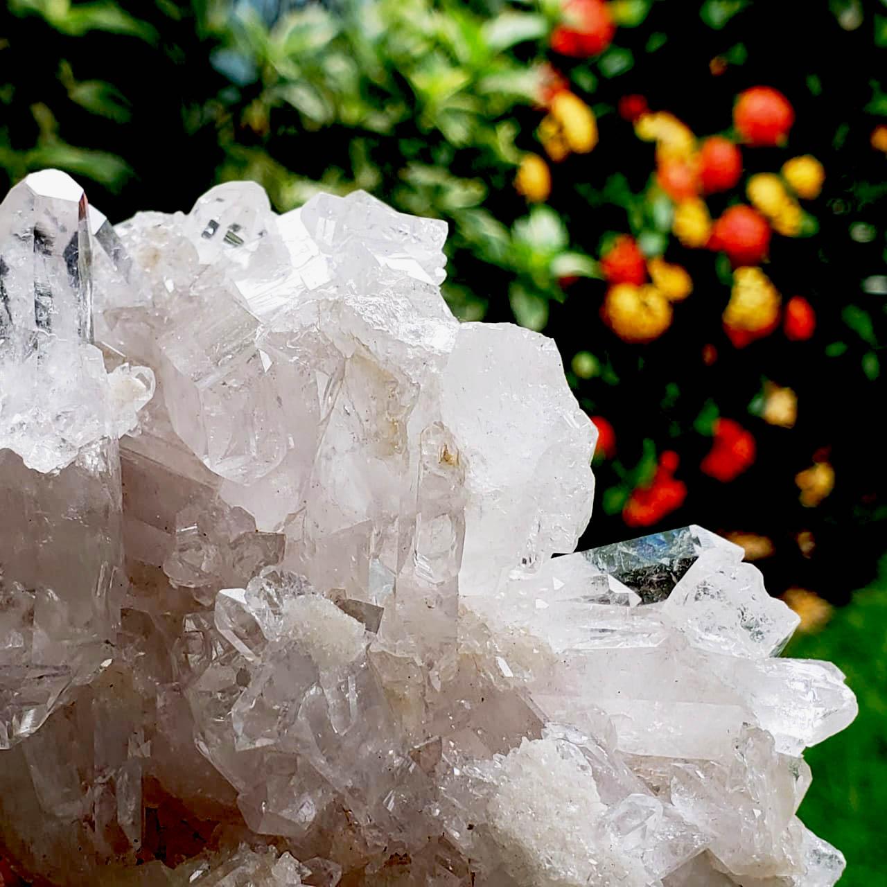 Cristal - Drusa - Quartzo Branco - Abertura de Luz