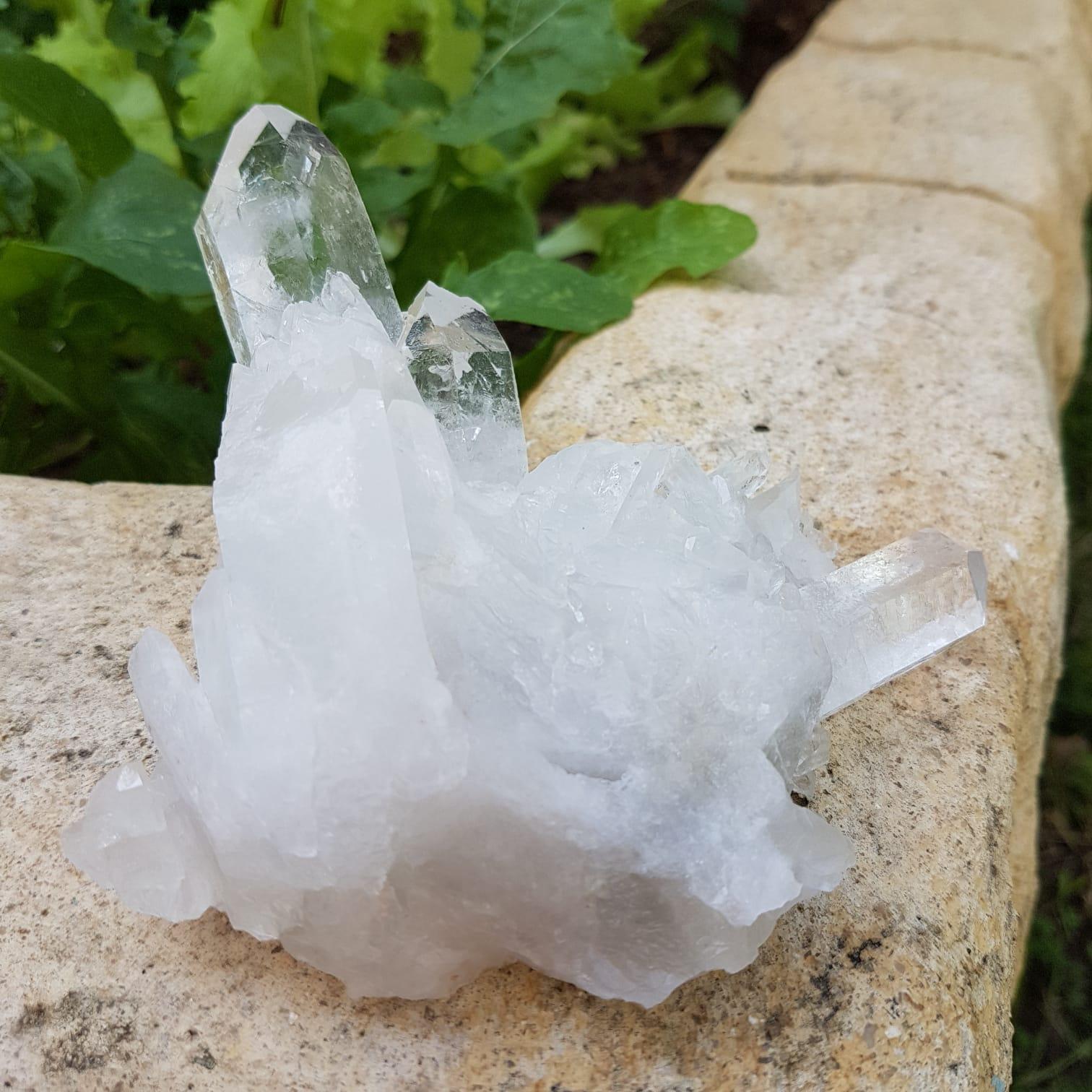 Cristal - Drusa - Quartzo Branco - Canalização de Luz