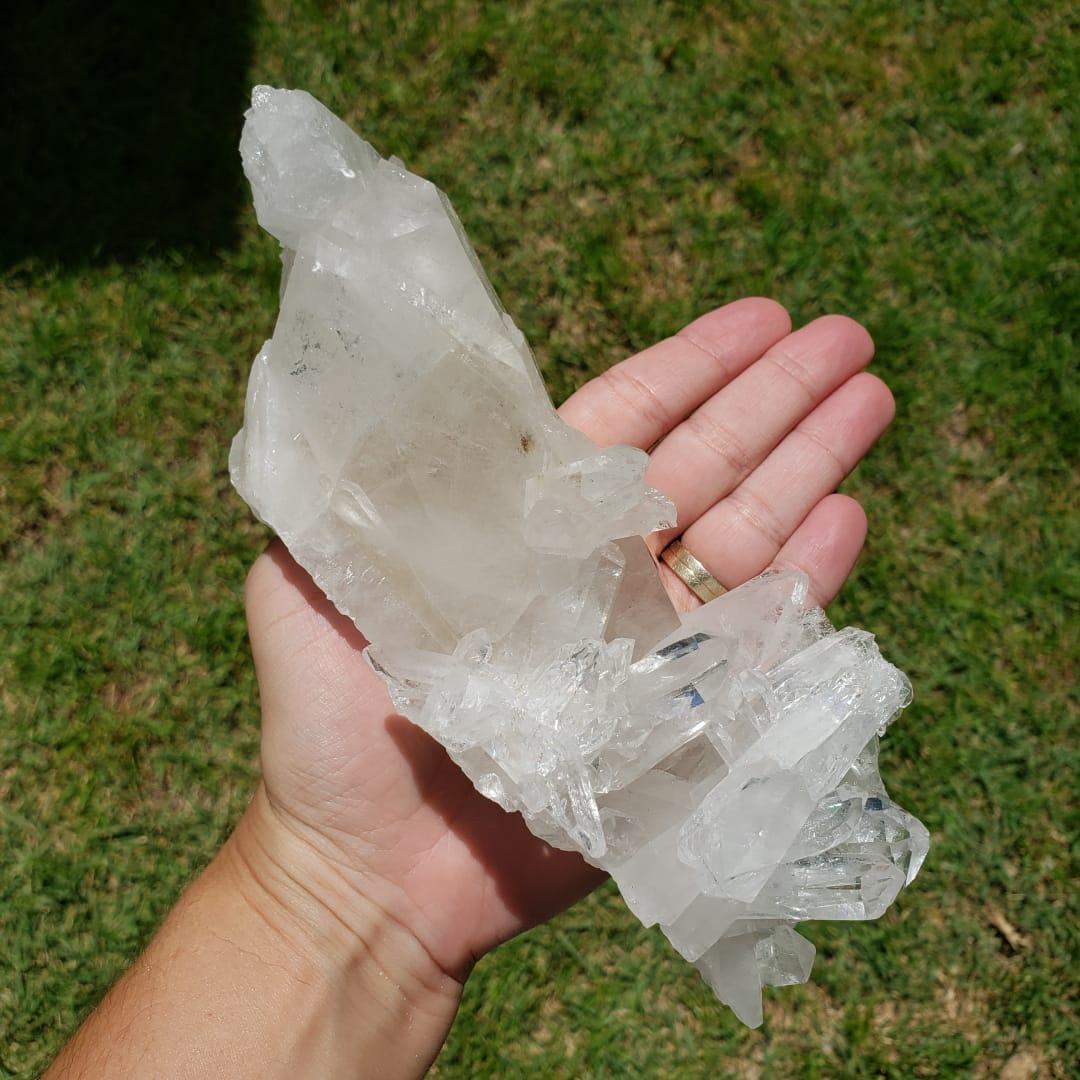 Cristal - Drusa - Quartzo Branco - Cura
