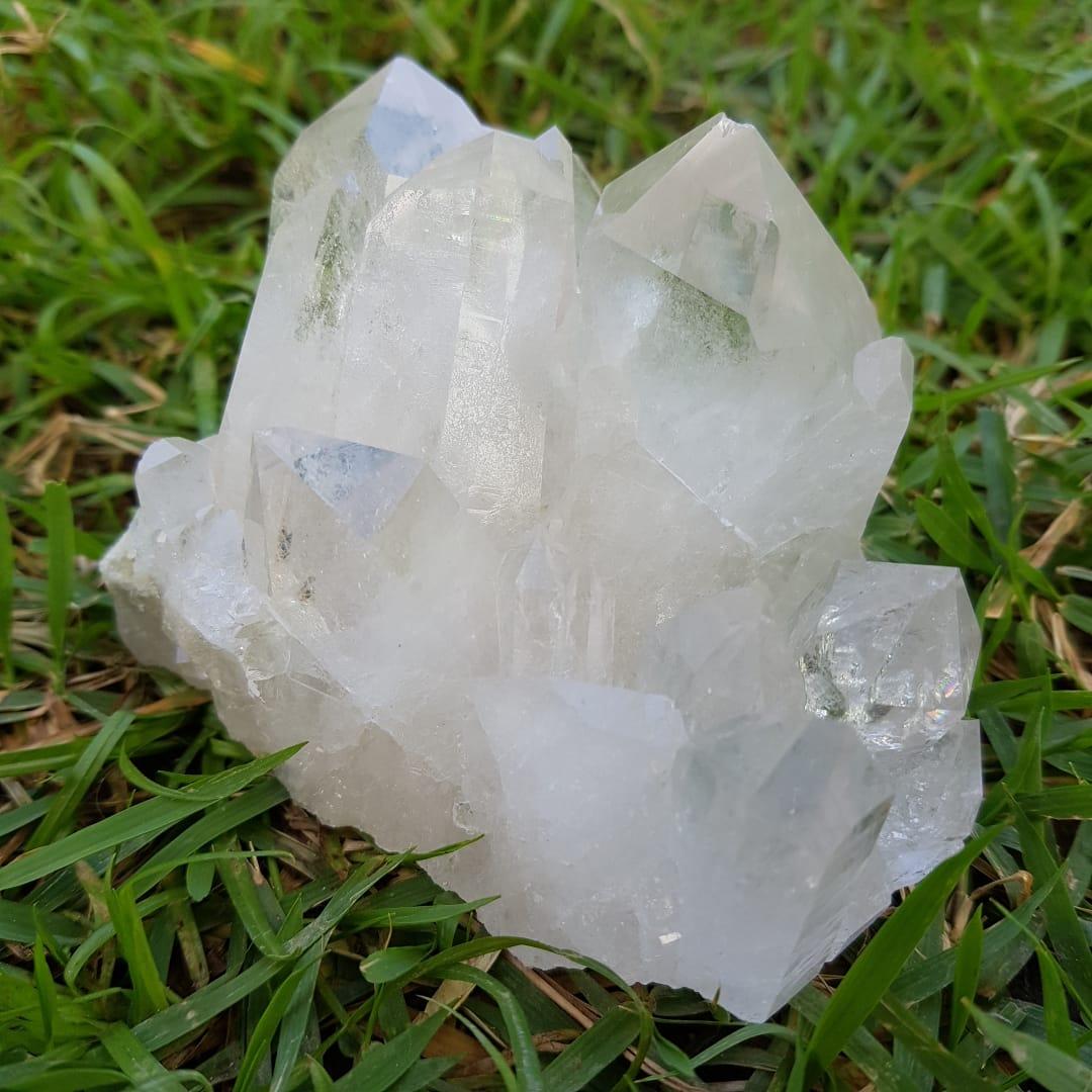 Cristal - Drusa - Quartzo Branco Luz