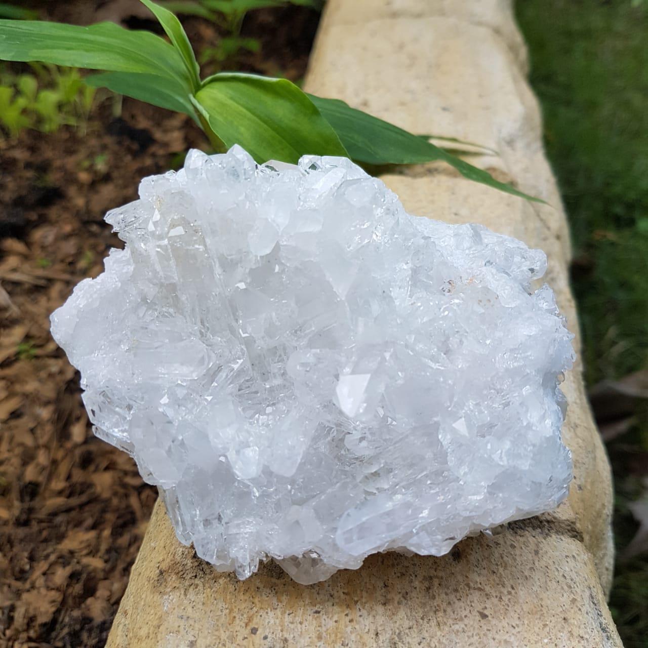 Cristal - Drusa - Quartzo Branco - Luz - Cura