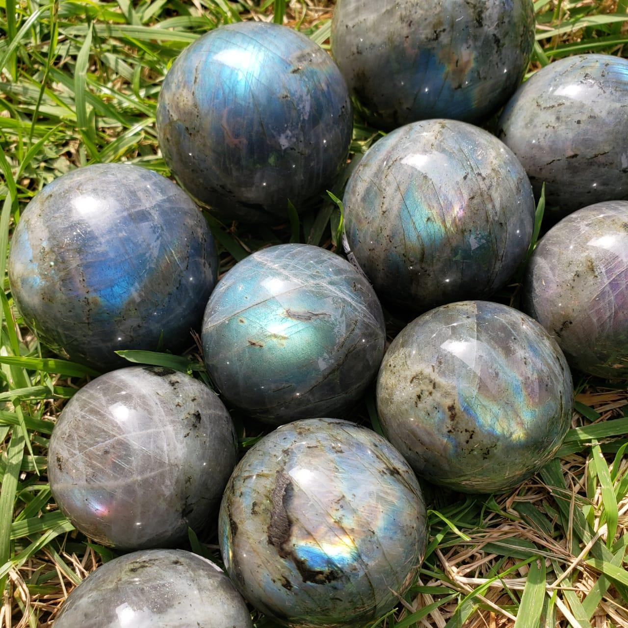 Cristal - Esfera - Labradorita - Pedra Mística