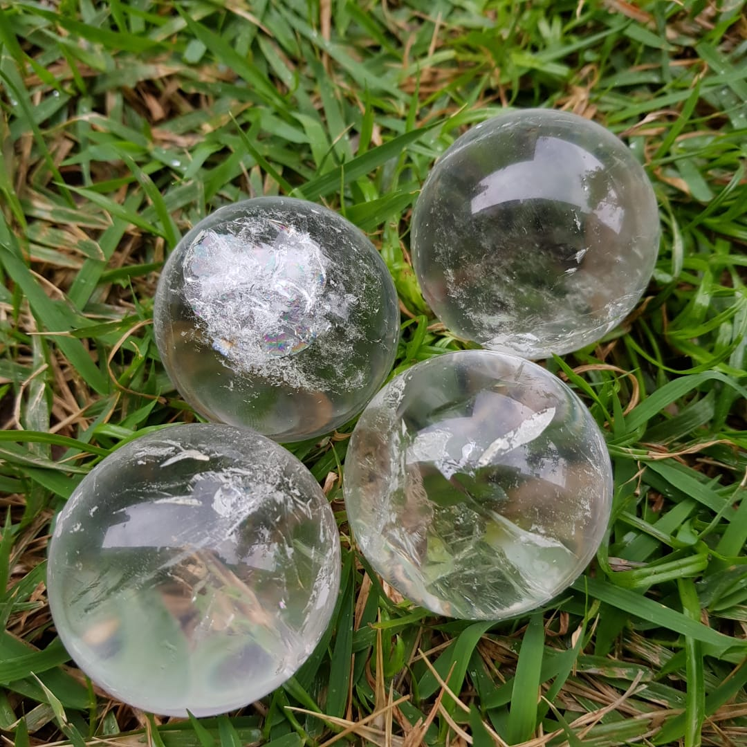 Cristal - Esfera Quartzo Branco - Bola de Cristal