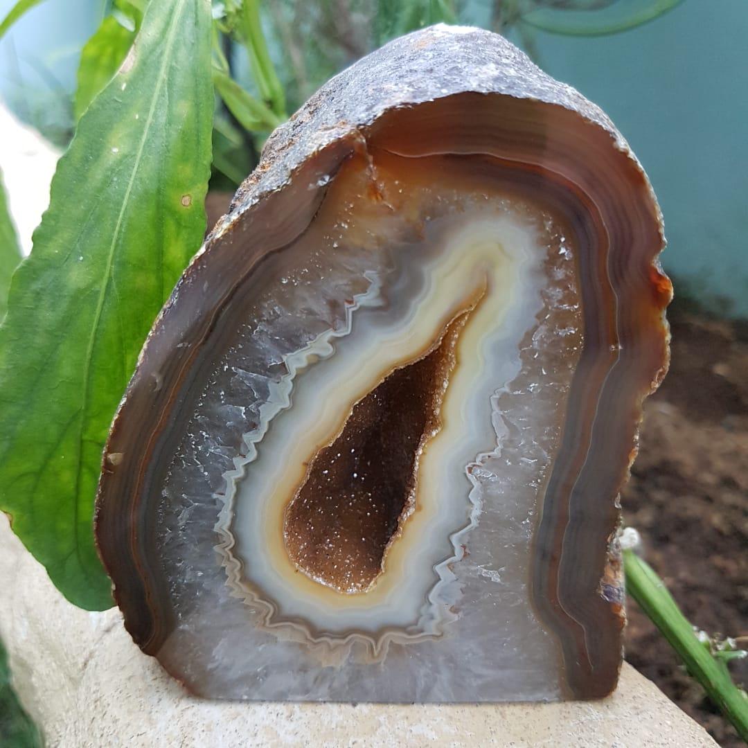 Cristal - Geodo - Ágata Natural Marrom