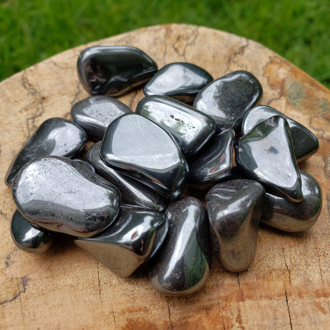 Cristal - Hematita Pedra Rolada Mini Kit 100g