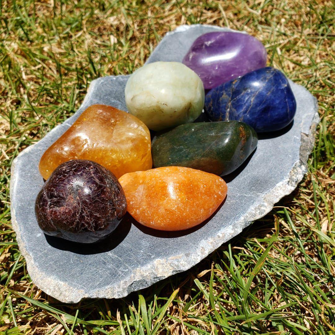 Cristal - Kit Pedra dos 7 Chakras com Suporte