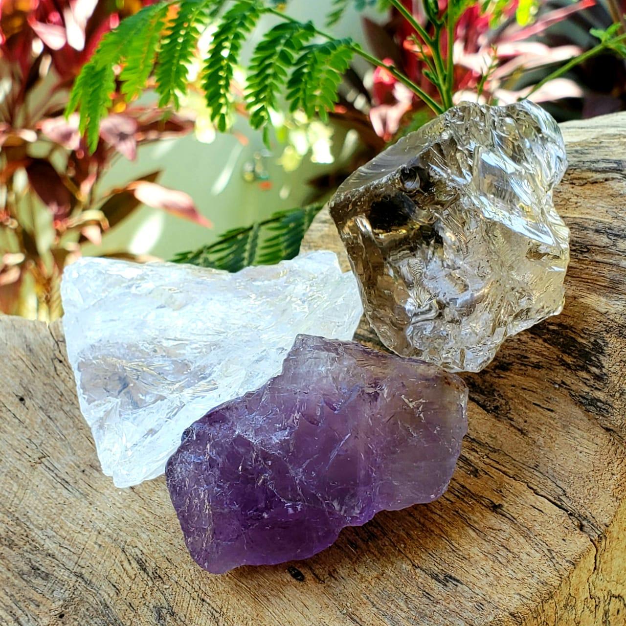 Cristal - Kit Proteção, Transmutação e Luz