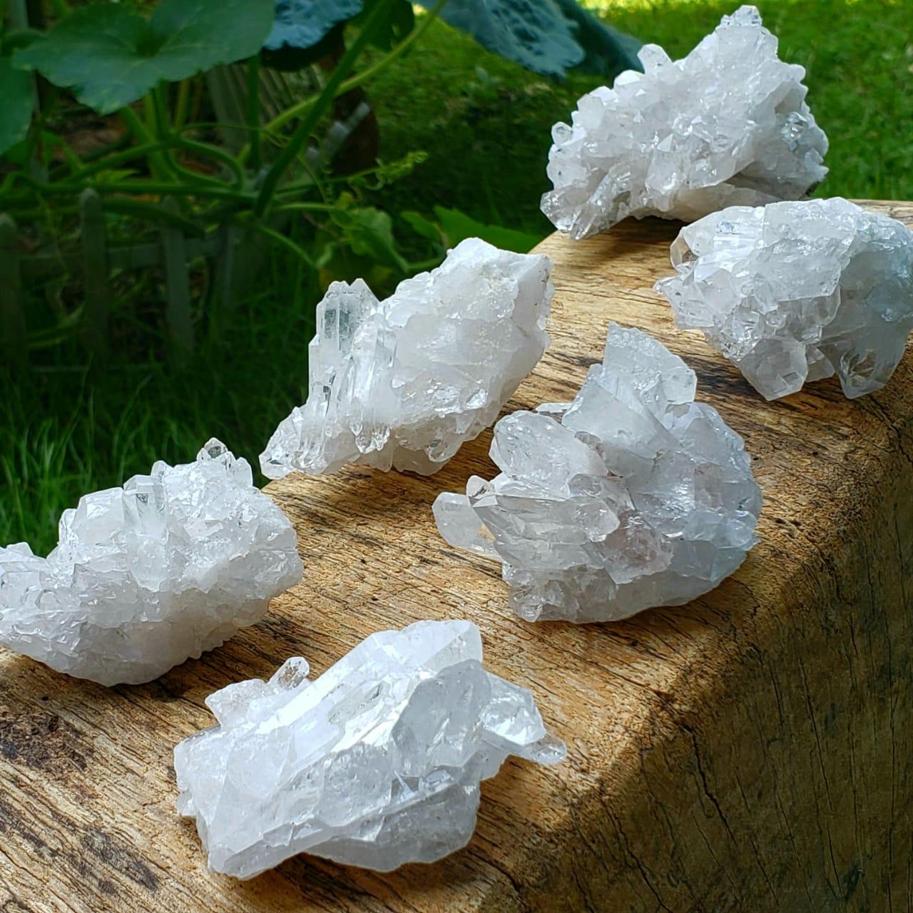 Cristal Mini Drusa de Quartzo Branco