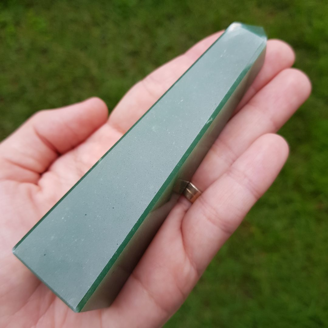 Cristal - Obelisco - Quartzo Verde