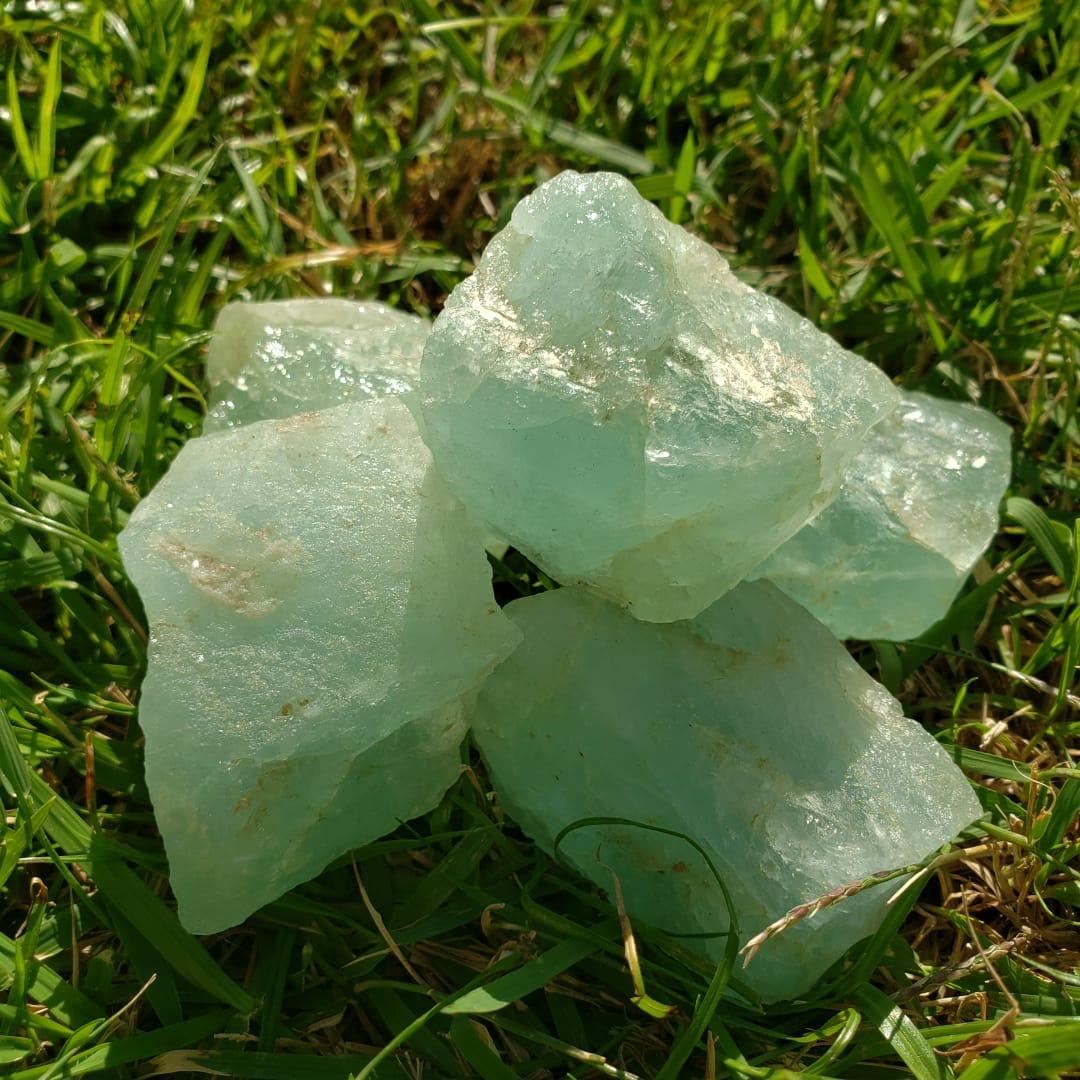 Cristal - Pedra Bruta - Água Marinha - Calma e Serenidade