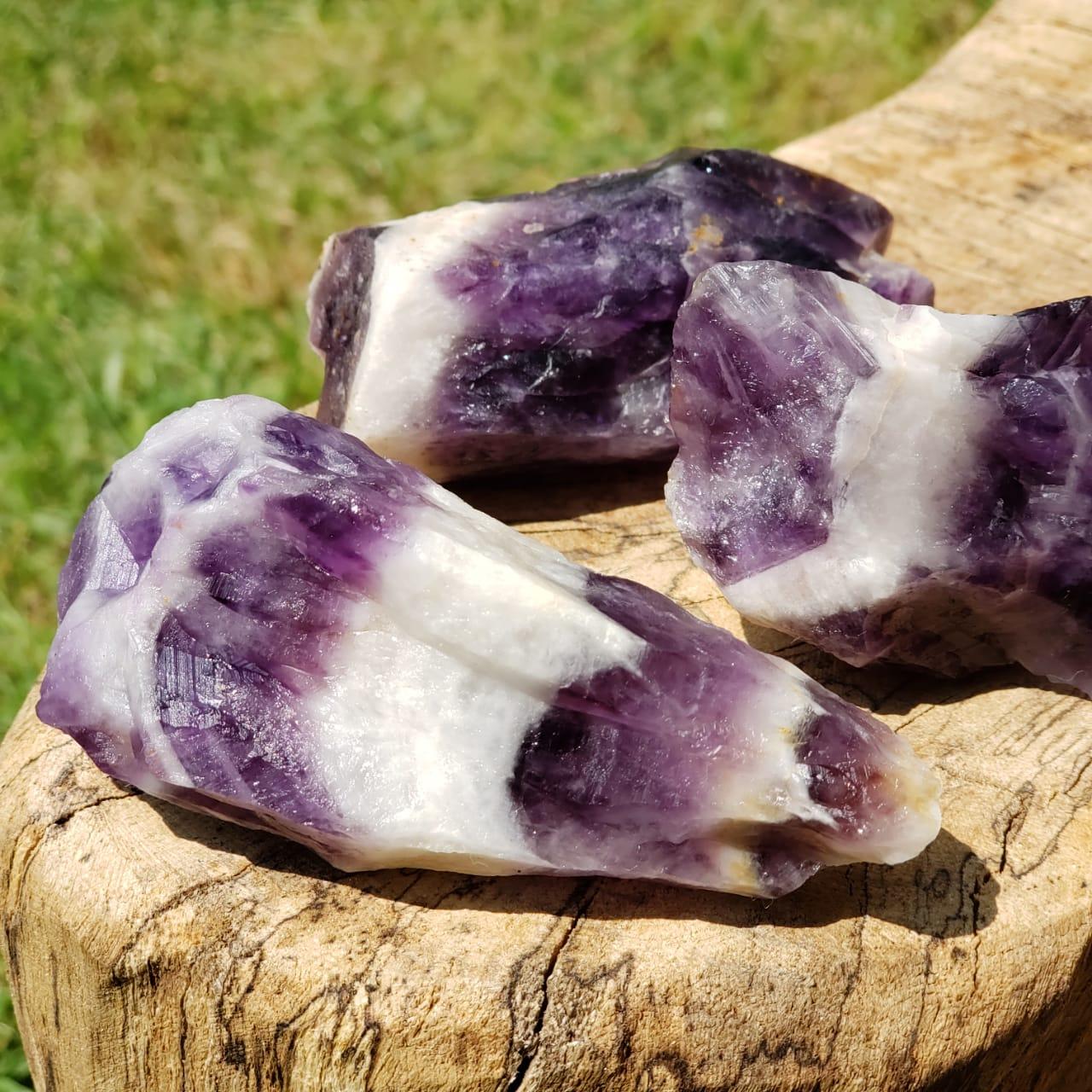 Cristal - Pedra Bruta - Ametista Chevron