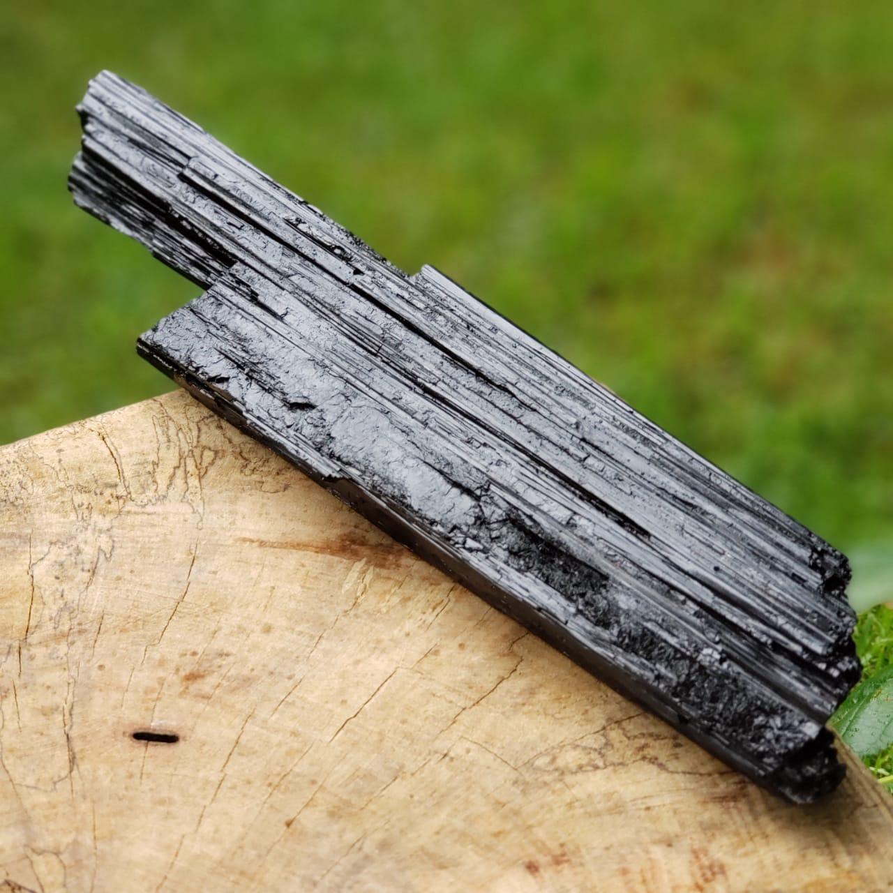 Cristal - Pedra Bruta - Bastão - Turmalina Negra - Afasta Mau-Olhado