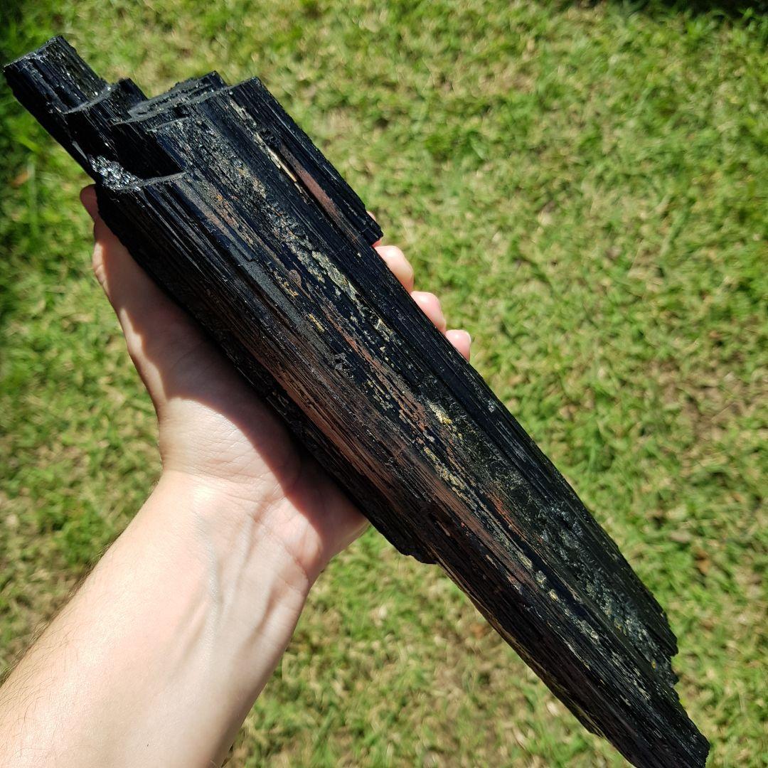 Cristal - Pedra Bruta - Bastão - Turmalina Negra Grande Energia