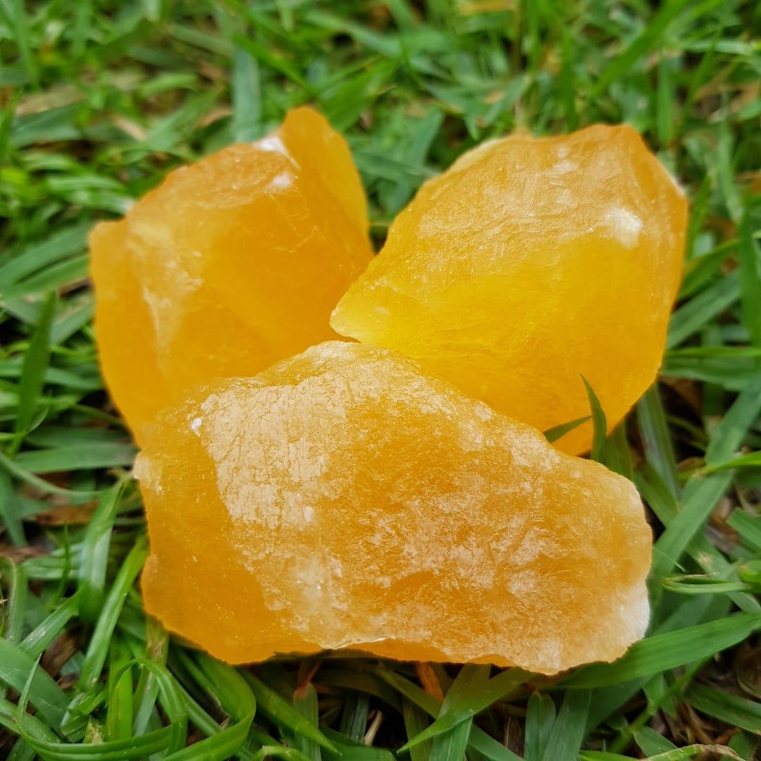 Cristal - Pedra Bruta - Calcita Amarela