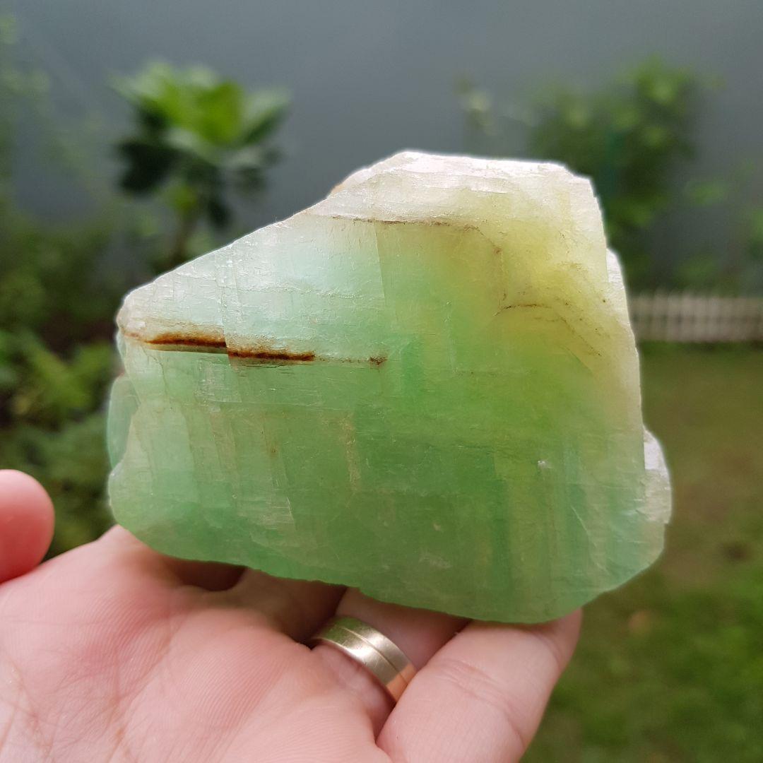 Cristal - Pedra Bruta Calcita Verde