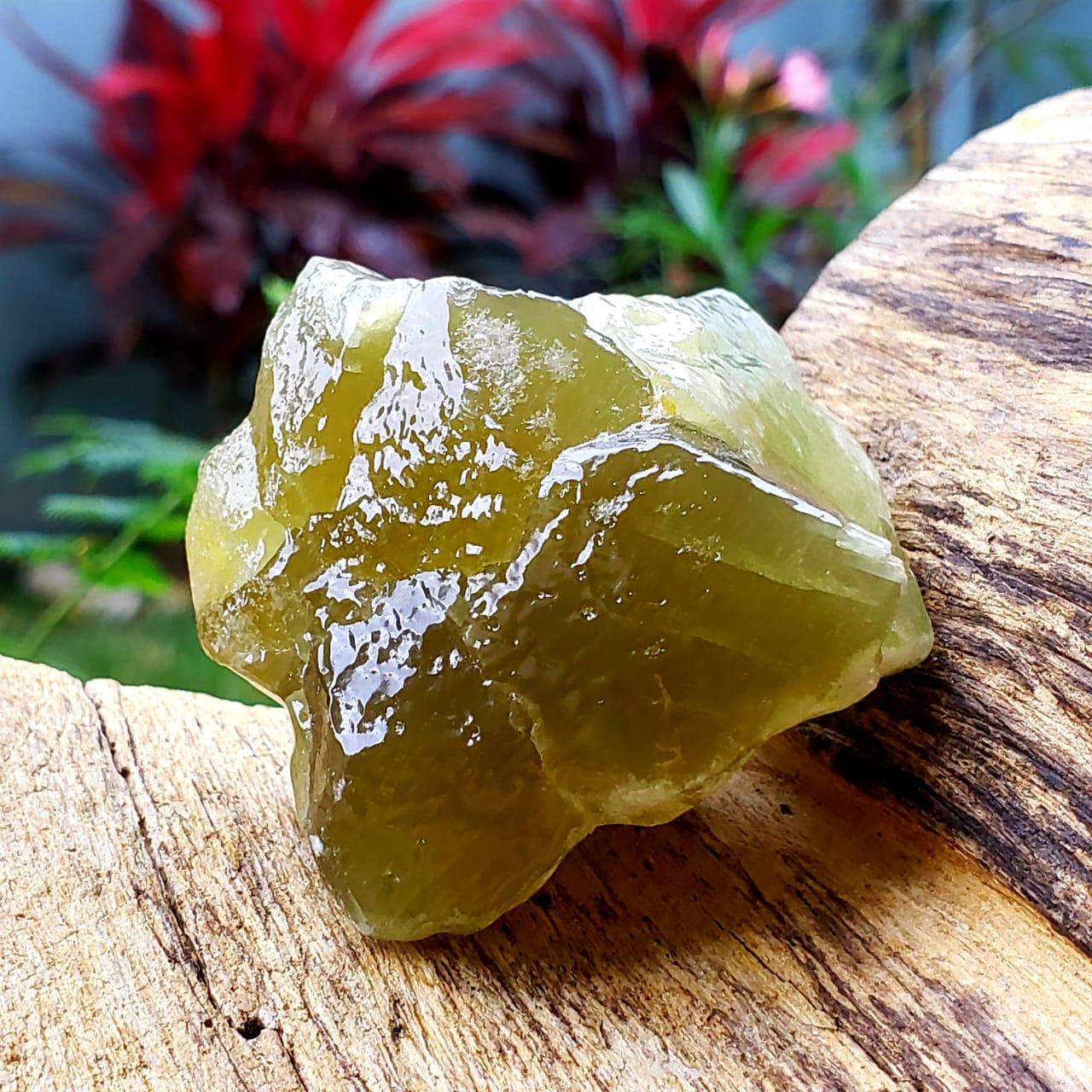 Cristal - Pedra Bruta Calcita Verde (Unidade)