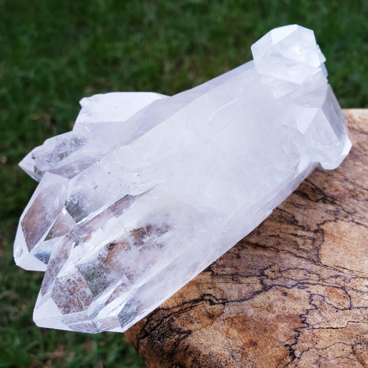 Cristal - Pedra Bruta - Cristal de Quartzo Branco
