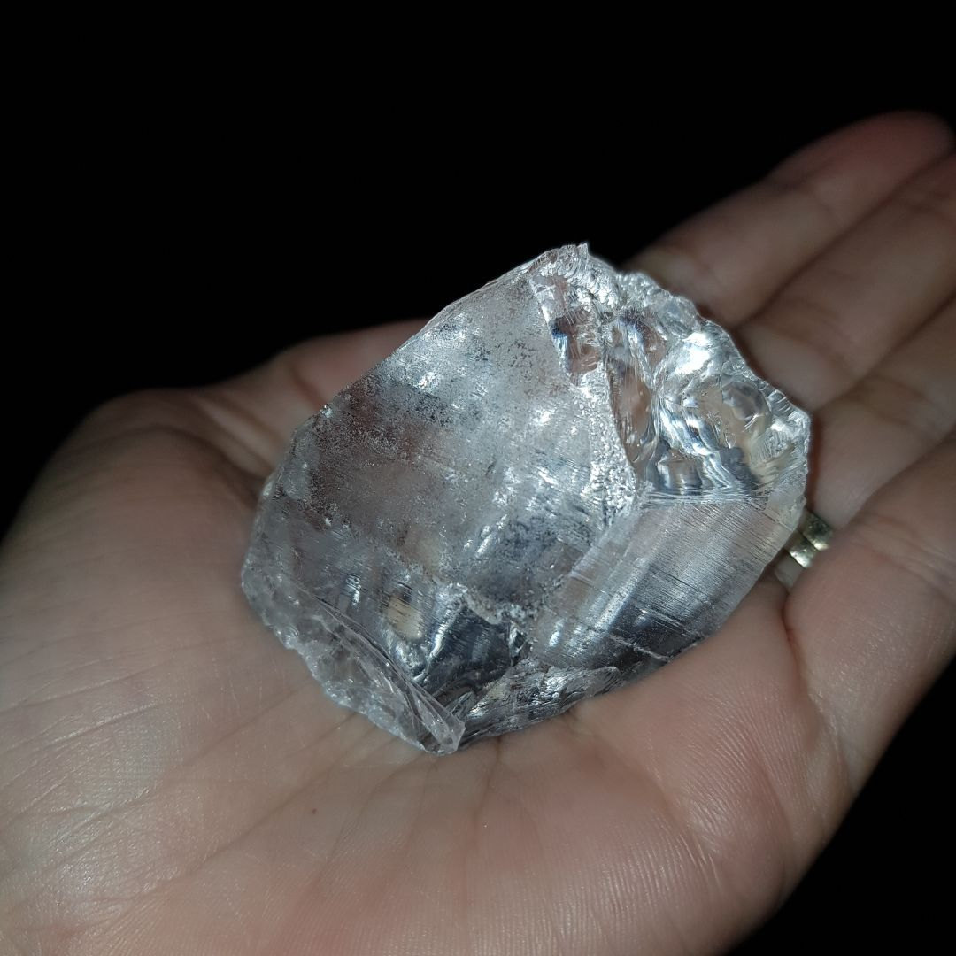 Cristal - Pedra Bruta - Cristal de Rocha Quartzo Branco