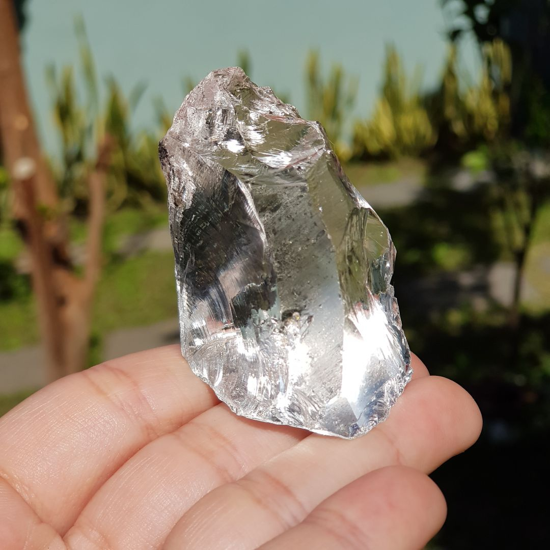 Cristal - Pedra Bruta - Cristal de Quartzo Branco - Luz e Paz