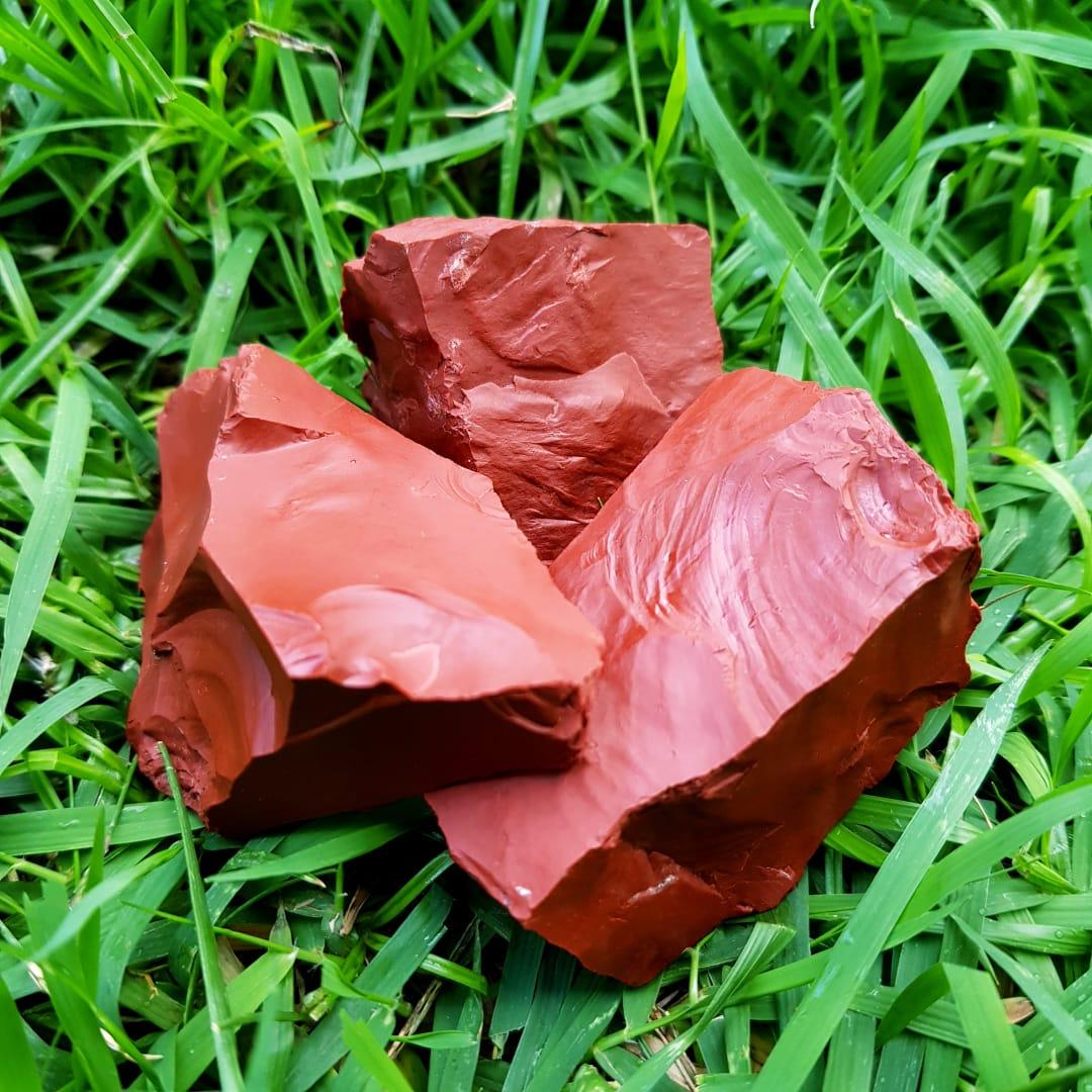 Cristal - Pedra Bruta - Jaspe Vermelho