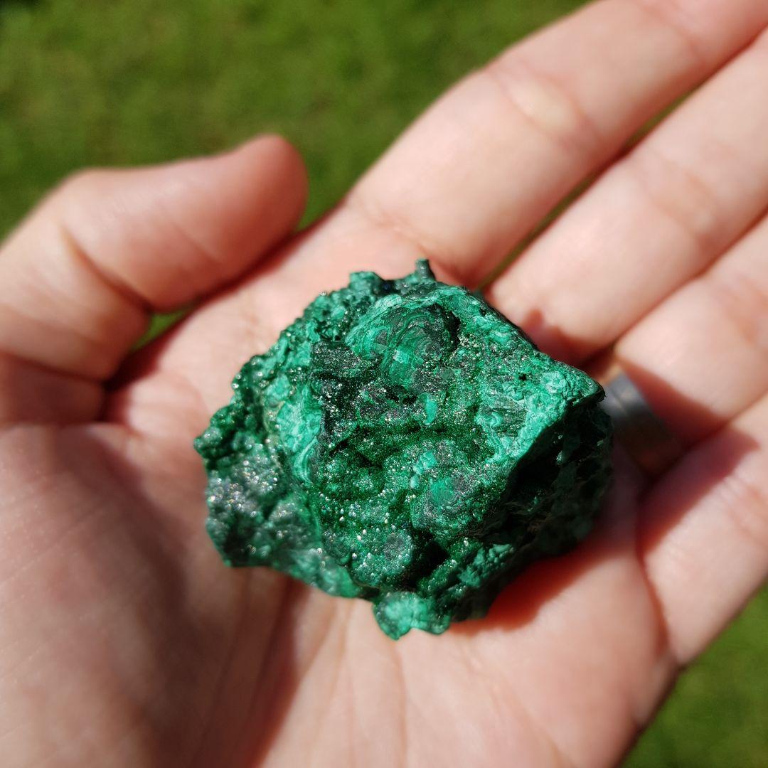 Cristal - Pedra Bruta - Malaquita
