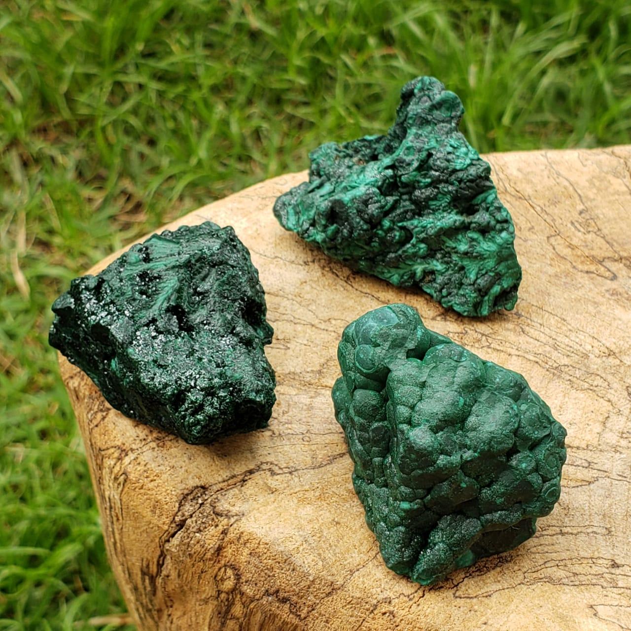 Cristal - Pedra Bruta - Malaquita - Amplia Energias