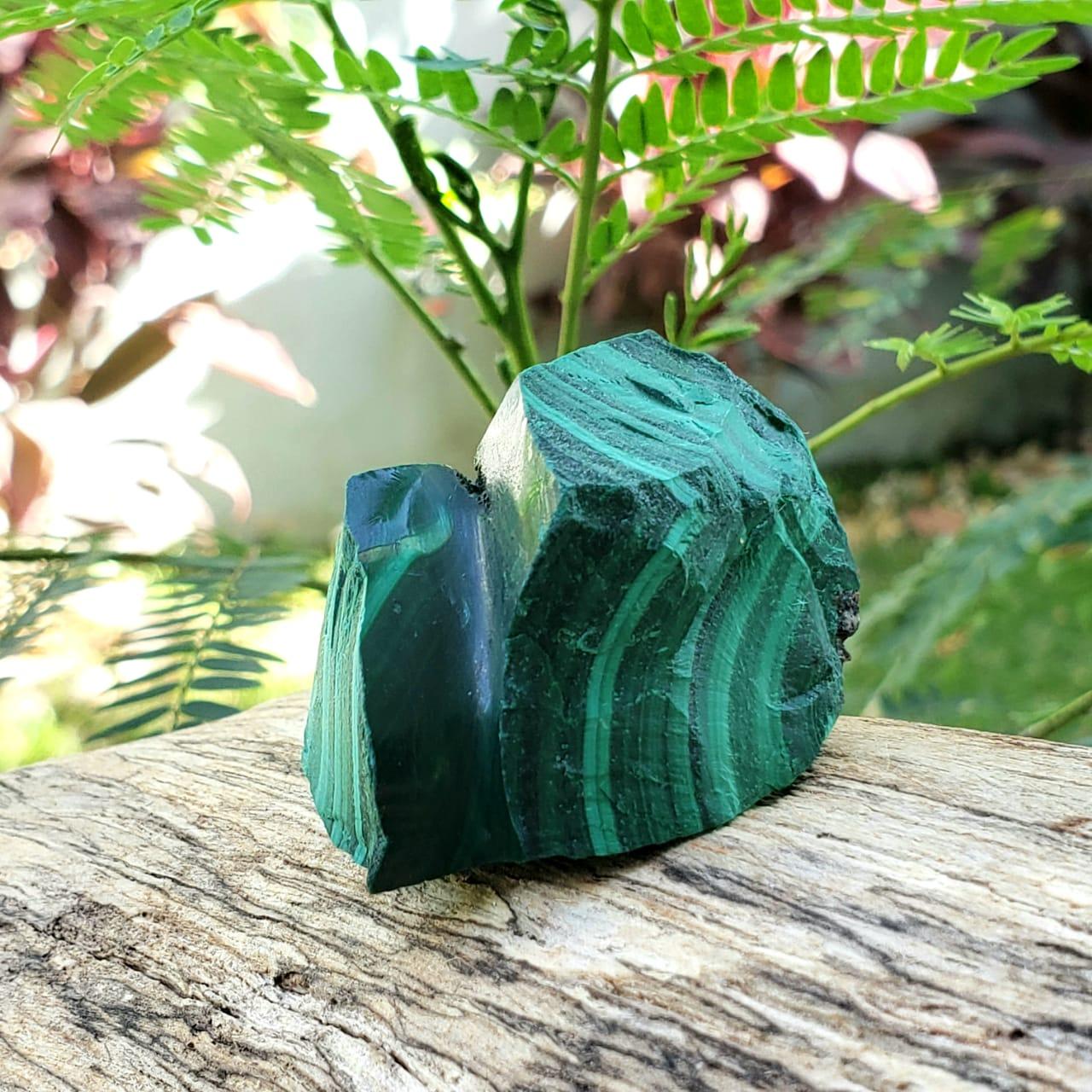 Cristal - Pedra Bruta - Malaquita - Equilíbrio e Harmonia