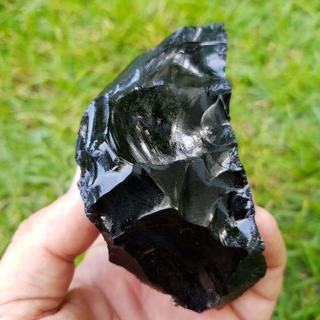 Cristal - Pedra Bruta - Obsidiana Negra