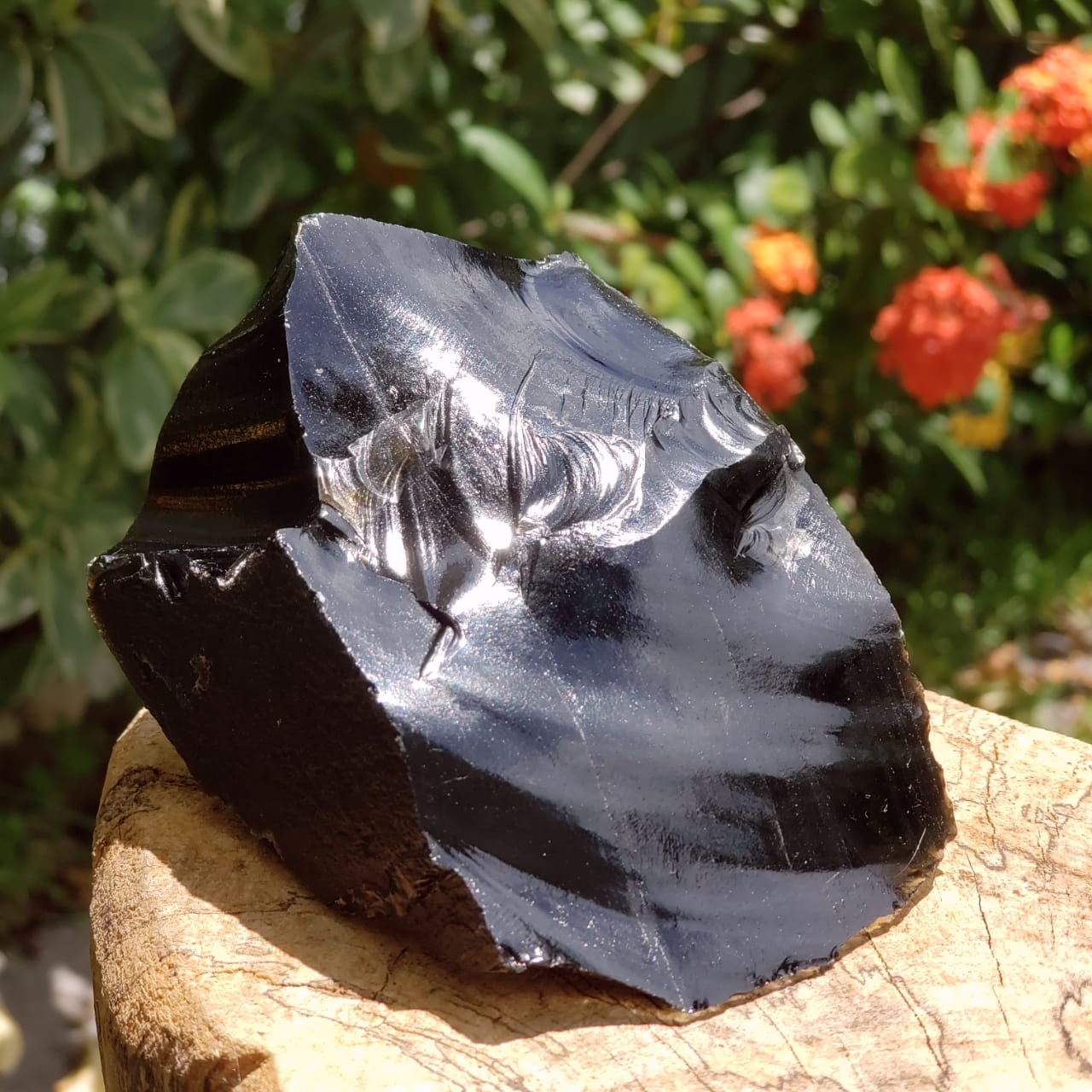 Cristal - Pedra Bruta - Obsidiana Negra (Unidade)