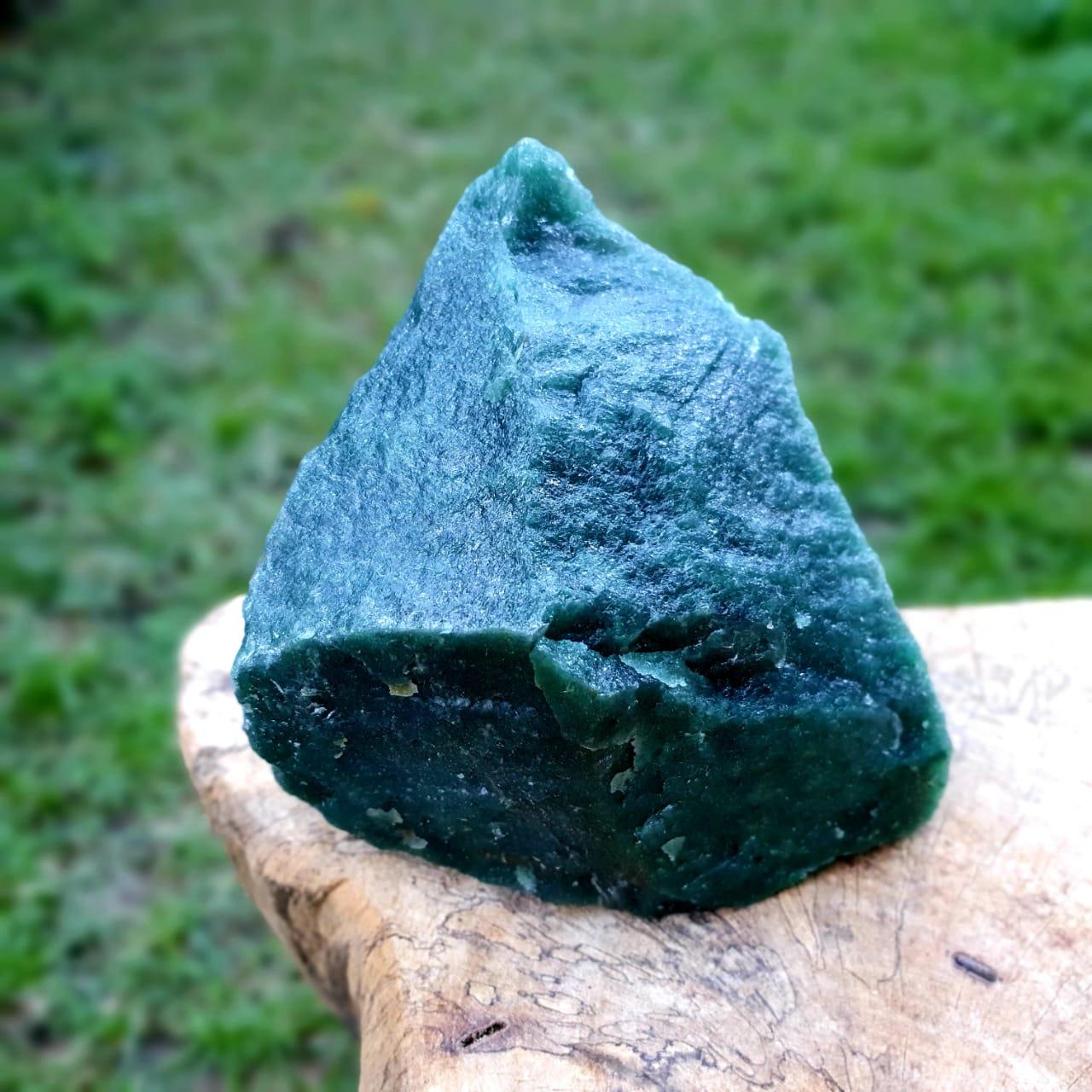 Cristal - Pedra Bruta Quartzo Verde - Equilíbrio