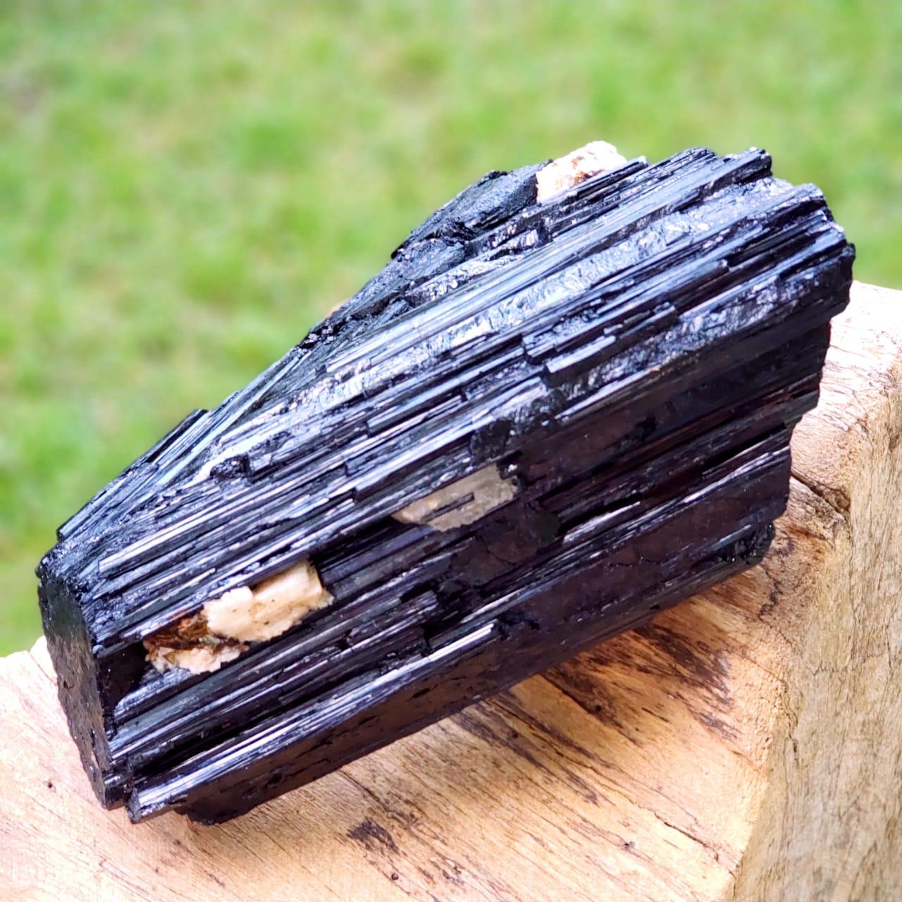 Cristal - Pedra Bruta Turmalina Negra Forte Proteção