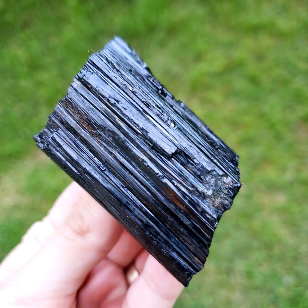 Cristal - Pedra Bruta Turmalina Negra - Transforma Energias Densas