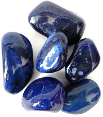 Cristal - Pedra Rolada - Ágata Azul (Pacote com 100g)