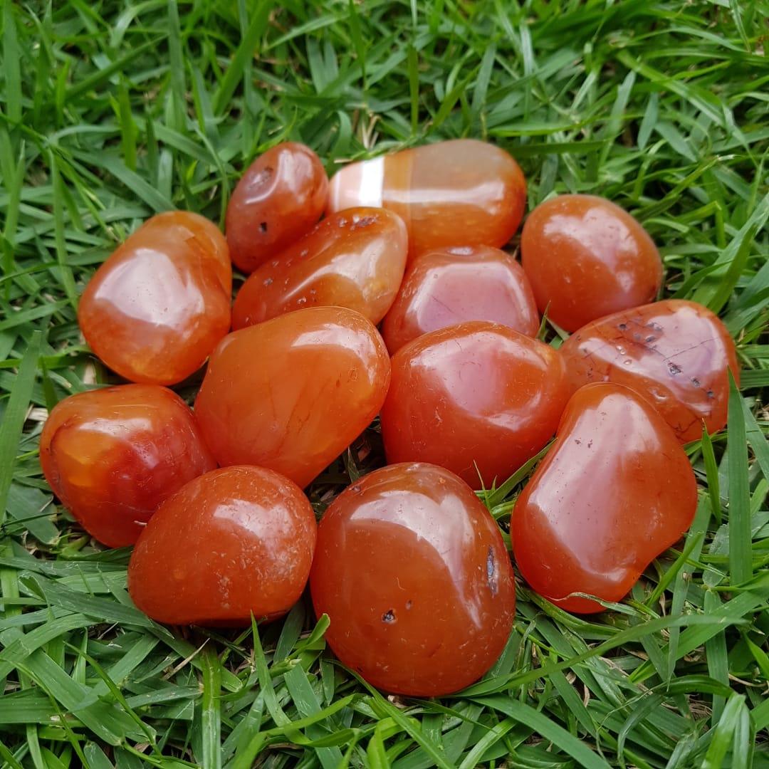 Cristal - Pedra Rolada - Cornalina (Pacote com 100g)
