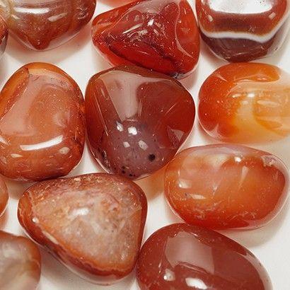Cristal - Pedra Rolada - Ágata de Fogo (Pacote com 100g)